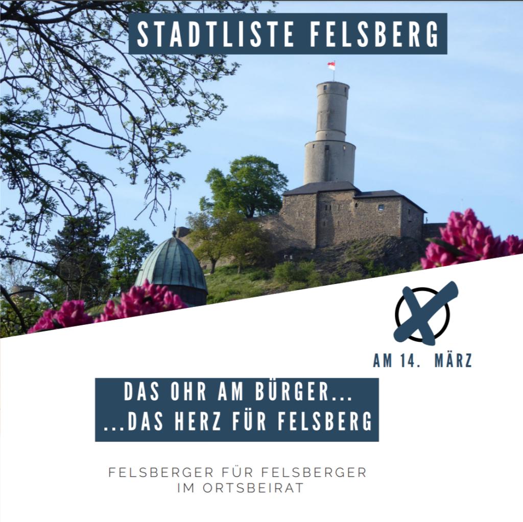 Flyer Stadtliste Felsberg Seite 1